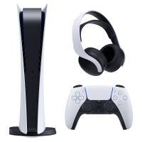 خرید                                     مجموعه کنسول بازی سونی مدل PLayStation 5 Digital به همراه هدست سونی Pulse 3D