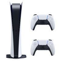 خرید                                     مجموعه کنسول بازی سونی مدل PlayStatio 5 Digital Edition ظرفیت 825 گیگابایت به همراه دسته اضافی