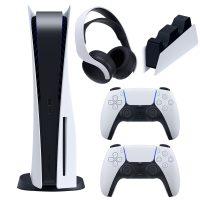 خرید                                     مجموعه کنسول بازی سونی مدل PlayStation 5 Drive ظرفیت 825 گیگابایت به همراه هدست و پایه شارژر