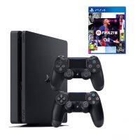 خرید                                     مجموعه کنسول بازی سونی مدل Playstation 4 Slim CUH-2216B ظرفیت 1 ترابایت به همراه دسته اضافه و فیفا21