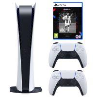 خرید                                     مجموعه کنسول بازی سونی مدل PlayStation 5 Digital ظرفیت 825 گیگابایت به همراه بازی فیفاPS5 21