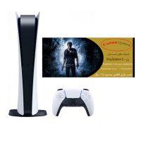 خرید                                     کنسول بازی سونی مدل Playstation 5 Digital Edition ظرفیت 825 گیگابایت به همراه کارت طلایی نصب بازی