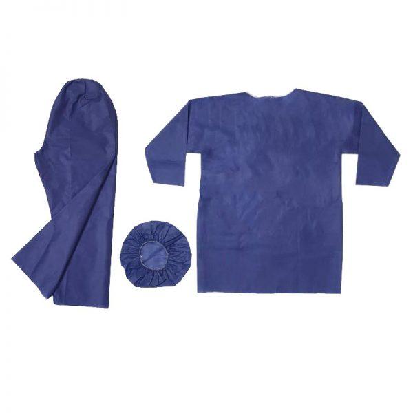 خرید                                     لباس یکبار مصرف بیمار مدل AT-001  بسته 60 عددی