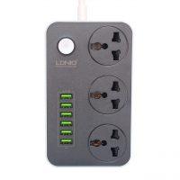 خرید                                     شارژر USB و چندراهی برق الدینیو مدل SC3604