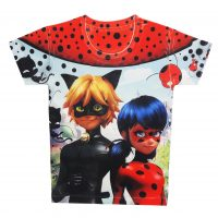 خرید                                     تی شرت دخترانه طرح دختر کفشدوزکی کد A120