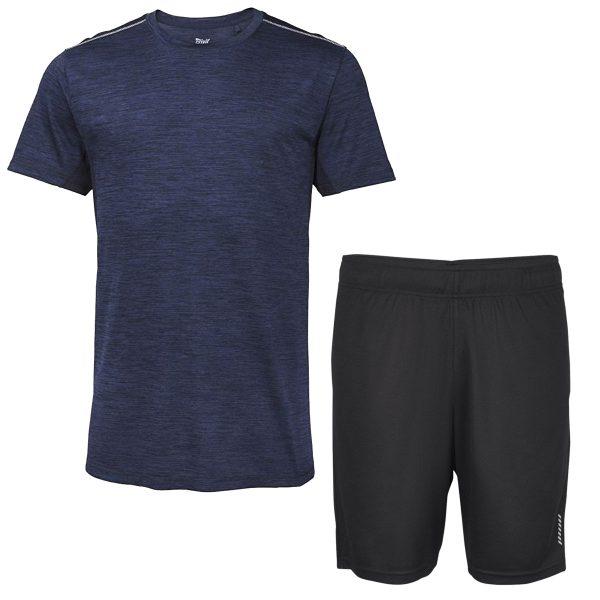 خرید                                     ست تی شرت و شلوارک ورزشی مردانه کرویت مدل BK5487