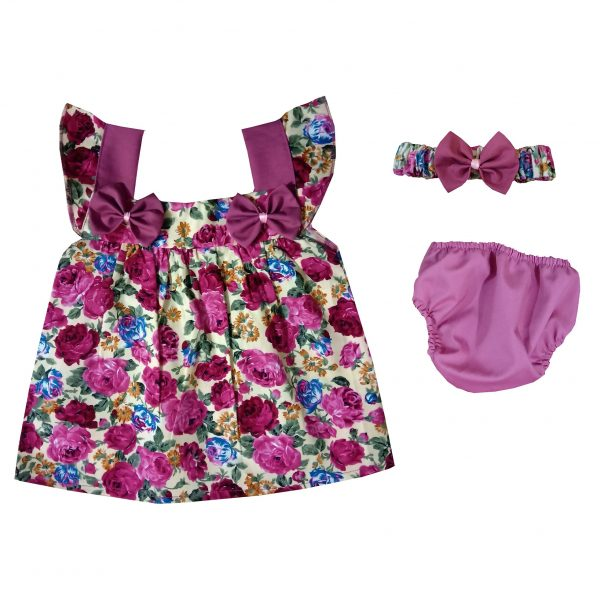 خرید                                     ست 3 تکه لباس نوزادی دخترانه کد 03