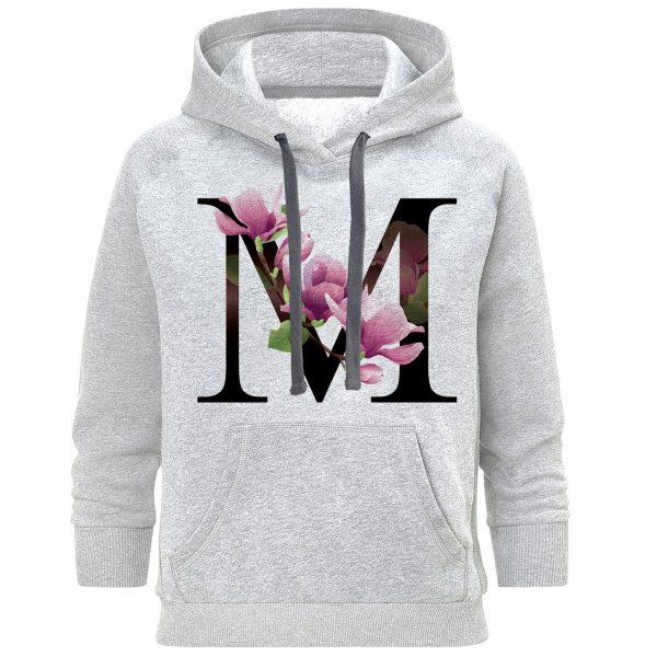 خرید                                     هودی زنانه طرح حرف M کد S395