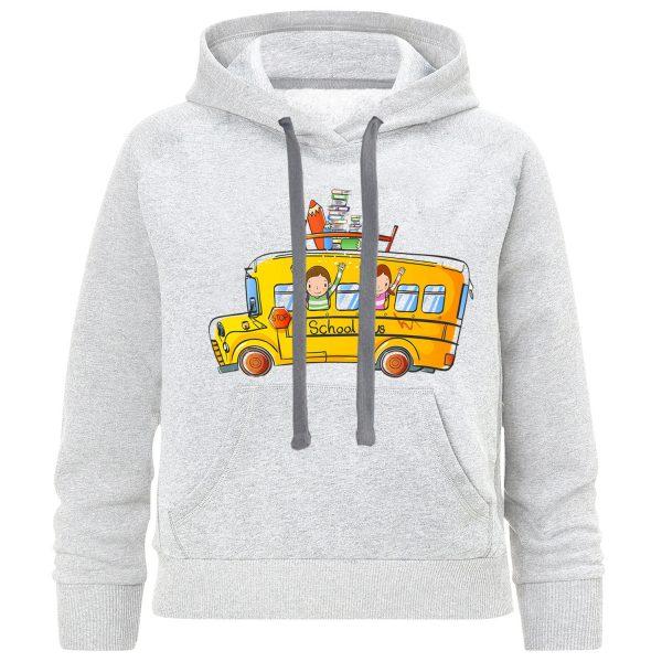 خرید                                     هودی پسرانه طرح اتوبوس مدرسه کد F07