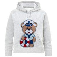 خرید                                     هودی پسرانه طرح خرس ملوان کد F41