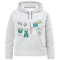 خرید                                     هودی دخترانه طرح لباس بچه کد F335