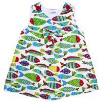 خرید                                       پیراهن دخترانه مدلا طرح ماهی کد D1984