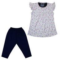 خرید                                     ست تی شرت و شلوارک دخترانه کد 138