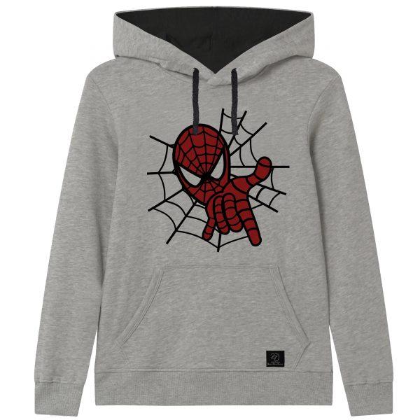خرید                                     هودی پسرانه 27 مدل مرد عنکبوتی کد F16 رنگ طوسی