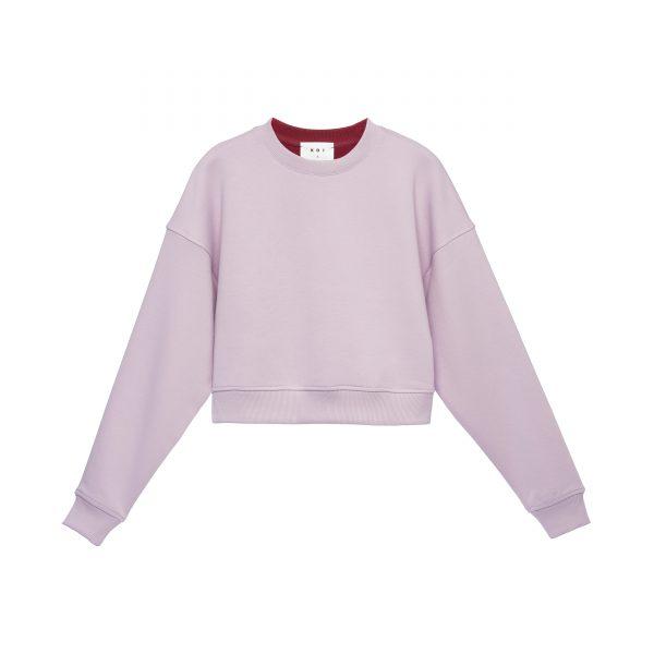 خرید                                     سویشرت زنانه کوی مدل 200 رنگ یاسی