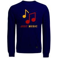 خرید                                     سویشرت مردانه 27 مدل Just music کد V24 رنگ سرمه ای