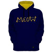 خرید                                     هودی زنانه 27 مدل Meow کد B11 رنگ سرمه ای
