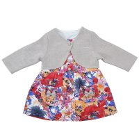 خرید                                     ست کت و پیراهن نوزادی مدل بهار کد P1011