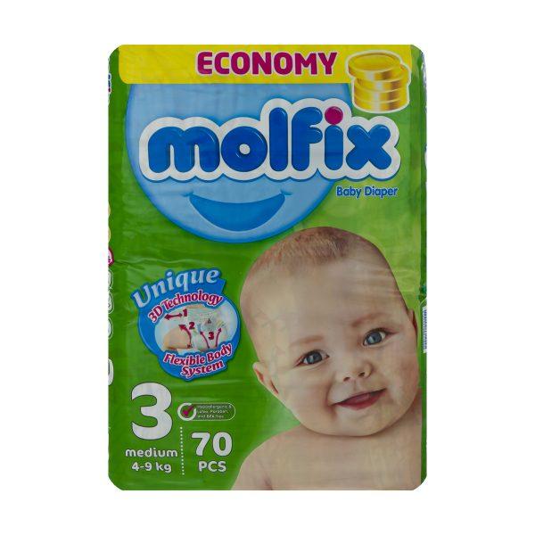 خرید                                     پوشک مولفيکس سايز 3 بسته 70 عددي