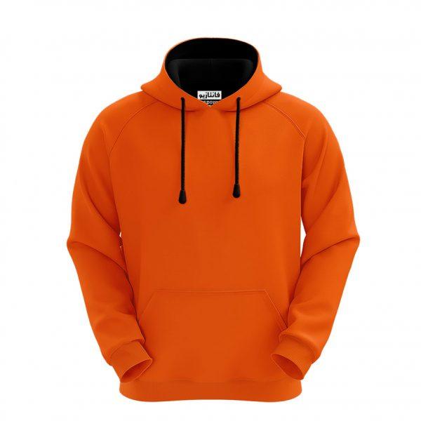 خرید                                     هودی مردانه نارنجی فانتازیو مدل رگلان کد 413
