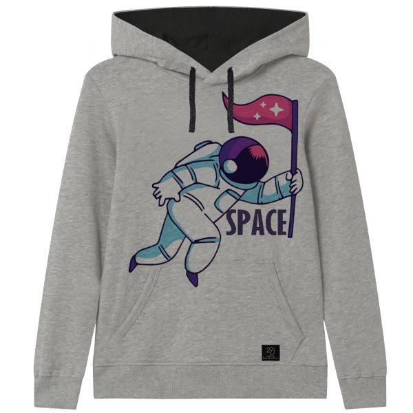 خرید                                     هودی پسرانه 27 طرح فضانورد کد J14 رنگ طوسی