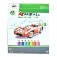 خرید                                     مداد رنگی 24 رنگ آدمیرال مدل Car